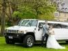 Hummer H2 Hochzeitsauto mieten Schloss location