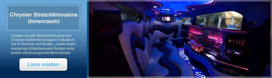 Chrysler 300 Stretchlimousine grau Innenraum