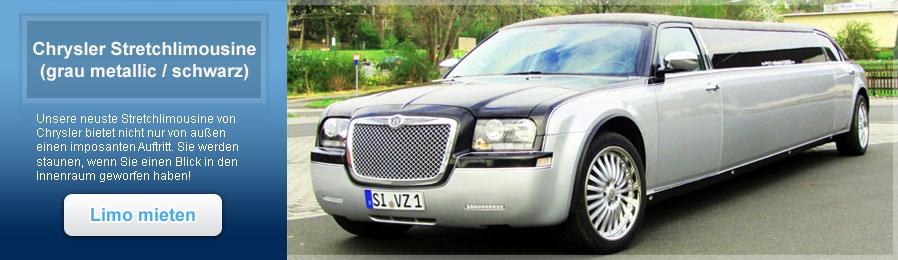 Chrysler 300 Stretchlimousine grau-metallic / schwarz