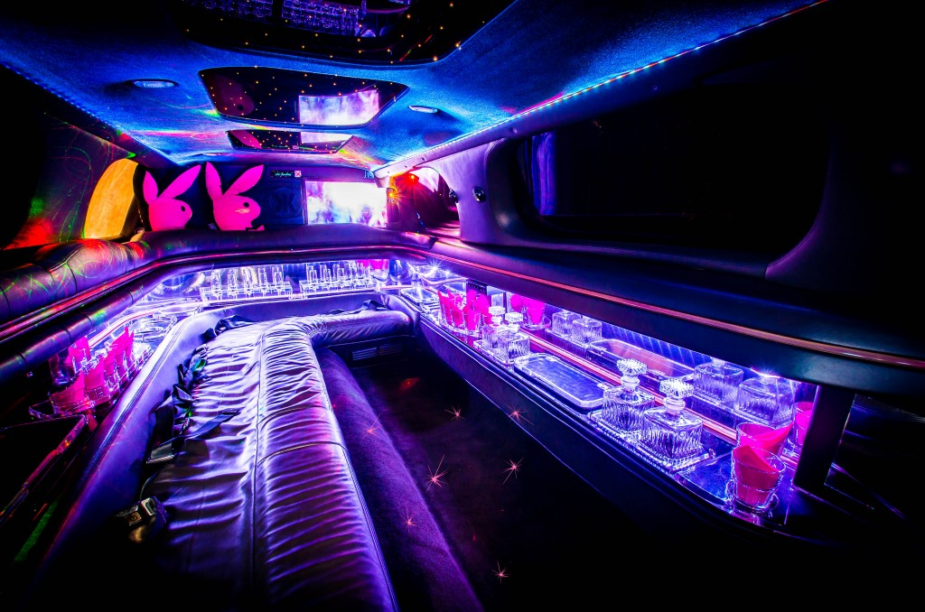 Limo pink Innenraum Moonshine Stretchlimousine mit Chauffeur
