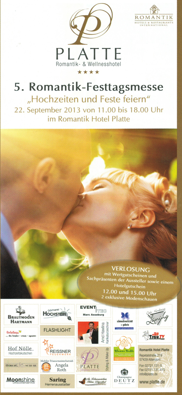 Wir sind wieder dabei,bei der 5. Romantik -Festmesse im Romantik Hotel Platte