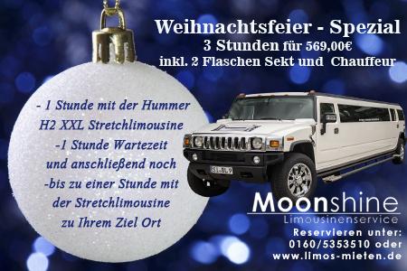 Weihnachtsfeier Hummer H2 Winter Stretchlimousine Limousinenservice Verleih Weihnachtsmarkt Siegen Olpe Kreuztal